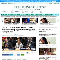 Emma Watson à l'ONU: un discours poignant sur l'égalité des genres