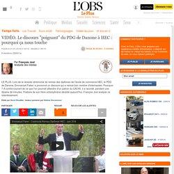 """""""La justice sociale est prioritaire"""" dit le PDG de Danone aux diplomés d'HEC"""
