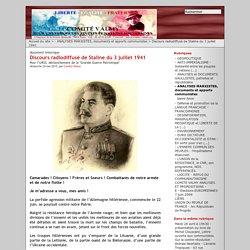 Discours radiodiffusé de Staline du 3 juillet 1941