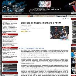 Discours de Thomas Sankara à l'ONU