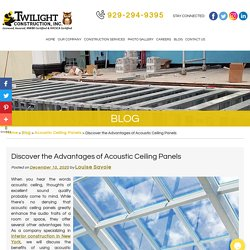 Discover the Advantages of Acoustic Ceiling Panels