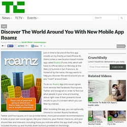 Discover The World Around You With New Mobile App Roamz