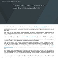 Discover your dream home with Smart home Real Estate Builders Pakistan
