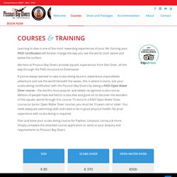 Courses & Training For Diving