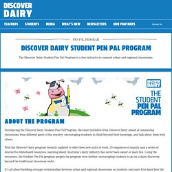 DISCOVER DAIRY STUDENT PEN PAL PROGRAM