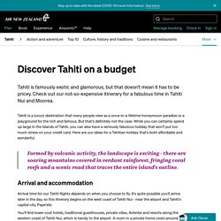 Discover Tahiti on a budget - Flights to Tahiti - Flights to the Islands - Where we fly - Plan