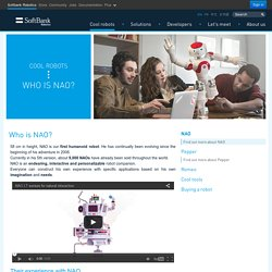 Discover Nao, the little humanoid robot from Aldebaran