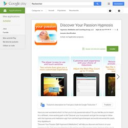 Discover Your Passion Hypnosis – Applications Android sur Google Play