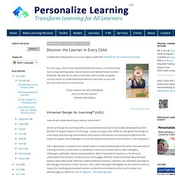Discover the Learner in Every Child