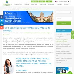 Discover the top e-learning software companies in Mumbai of 2020