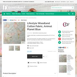 Discover Direct - Lifestyle Woodland Cotton Fabric, Animal Planet Blue