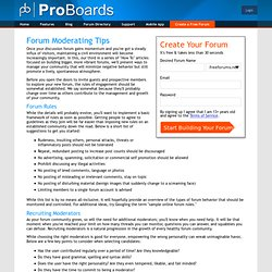 Discover forum moderating tips pros use to build large forums!