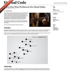 Top 10 Free Ways To Discover New Music Online – Eternal Code