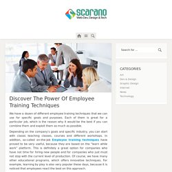 Employee Training Techniques And Its Power