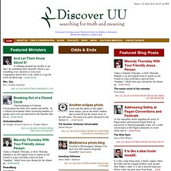 Discover UU - Searching for Truth and Meaning