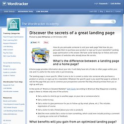 Discover the secrets of a great landing page