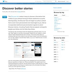 Discover better stories