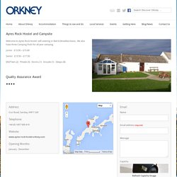 Orkney Tourism – Ayres Rock Hostel and Campsite