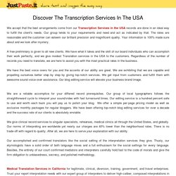 Discover The Transcription Services In The USA