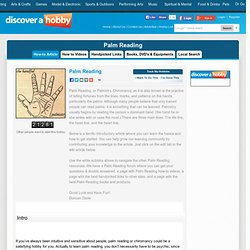 Discover A Hobby: Learn Palm Reading Online, Beginner Hand Palmistry Guide
