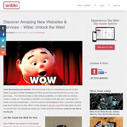 Discover Amazing New Websites & Services - Wibki: Unlock the Web!