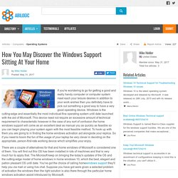How You May Discover the Windows Support Sitting At Your Home