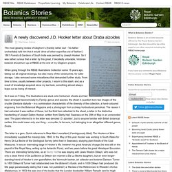 A newly discovered J.D. Hooker letter about Draba aizoides – Botanics Stories