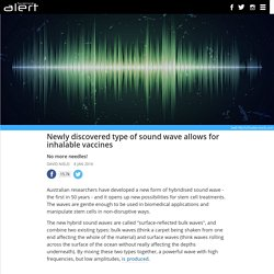 Newly discovered type of sound wave allows for inhalable vaccines