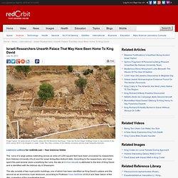 King David's Palace Discovered In Jerusalem?