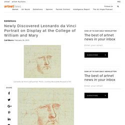 Newly Discovered Leonardo da Vinci Portrait on Display at the College of William and Mary
