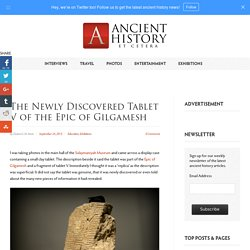 The newly discovered tablet V of the Epic of Gilgamesh