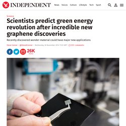 Scientists predict green energy revolution after incredible new graphene discoveries - Science - News