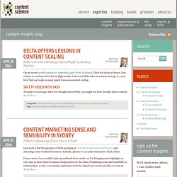 Content Insights - Page 1 - Expertise | Content Science
