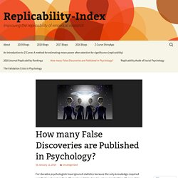 How many False Discoveries are Published in Psychology?