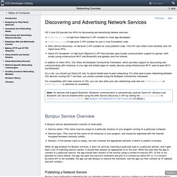Discovering and Advertising Network Services