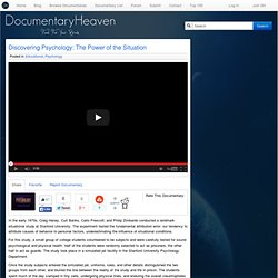 Discovering Psychology | Documentary Heaven | Watch Free Documentaries Online