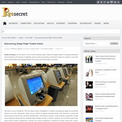 Get an Online Service of booking Flight Tickets Online