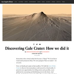 Discovering Gale Crater: How we did it