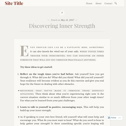 Discovering Inner Strength – Site Title