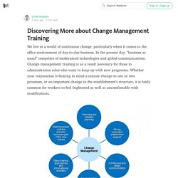 Discovering More about Change Management Training