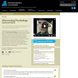 Resource: Discovering Psychology: Updated Edition