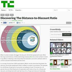 Discovering The Distance-to-Discount Ratio