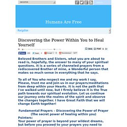 Discovering the Power Within You to Heal Yourself