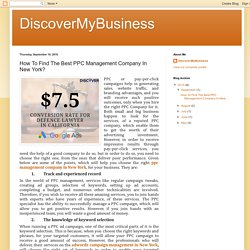 DiscoverMyBusiness: How To Find The Best PPC Management Company In New York?