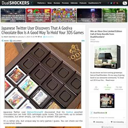 Japanese Twitter User Discovers That A Godiva Chocolate Box Is A Good Way To Hold Your 3DS Games