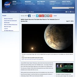 NASA's Kepler Discovers First Earth-Size Planet In The 'Habitable Zone' of Another Star