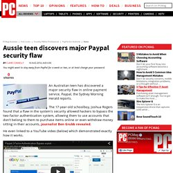 Aussie teen discovers major Paypal security flaw - PayPal (for Android)