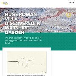 Man discovers Roman villa in Wiltshire garden!