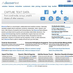 DiscoverText - A Text Analytic Toolkit for eDiscovery and Research