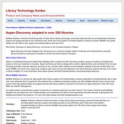 Aspen Discovery adopted in over 250 libraries